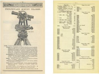 Pages from the 1921 catalogue and pricelist, advertising the 5129N for US$205.-.