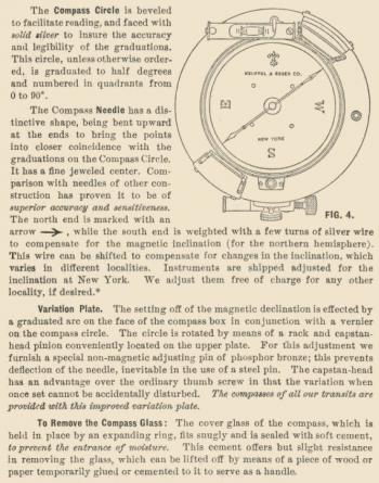The compass as described in the 1921 K&E catalogue.