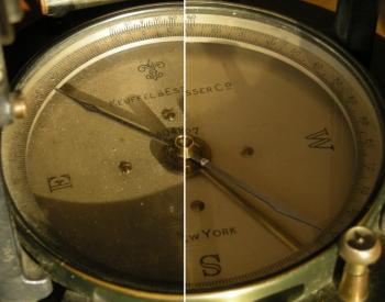The compass was cleaned following the K&E instructions.