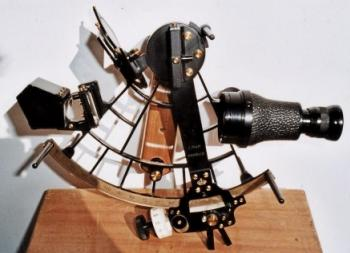 A 27 years older C. Plath sextant with its original pentagon prism attachment.