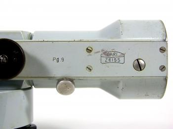 The Zeiss Opton logo on the plan parallel plate with serial or model number Pg. 9.