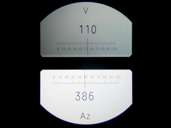 The vertical (110.533g) and horizontal (386.485g) circles.