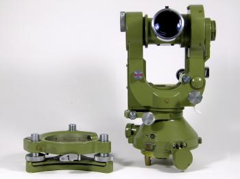 This Wild theodolite features the final type of tribrach attachment method