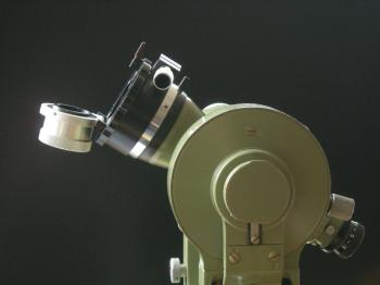 The front end of the Roelofs Prism can be opened for normal use of the instrument.