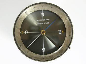 The compass bearing Tito Meucci's name