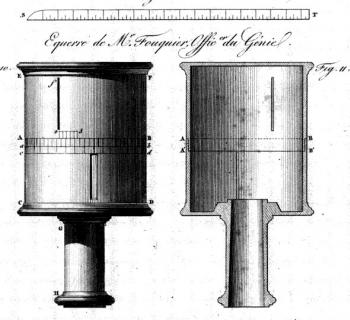 Fouquier's 1823 cylindrical equerre.