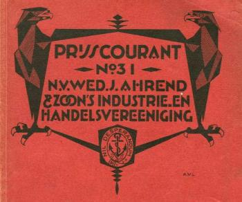 Cover of the 1922 no. 31 Ahrend catalogue.