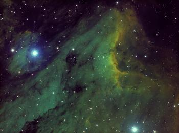 IC5070 (the Pelican Nebula) as imaged on 20-23 August 2019.