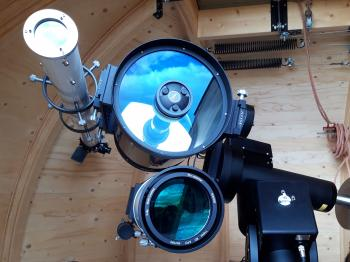 First light with the GTT60 mounted in the Lunt rings.