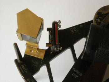 The pentagon prism attachment for the C. Plath sextant.