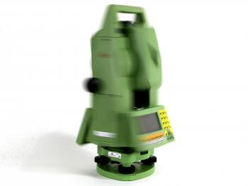 The Leica TCRA1101 robotic total station in action.