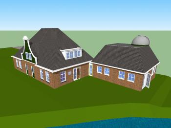 A 3D animation of the observatory on our library.