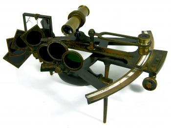The late 19th century brass Octant by T.S. & J.D. Negus of New York.